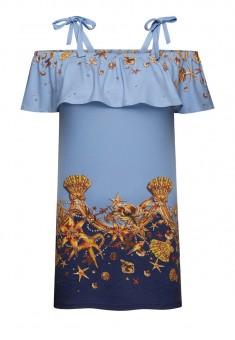 Трикотажне плаття без рукавів для дівчинки мультиколір