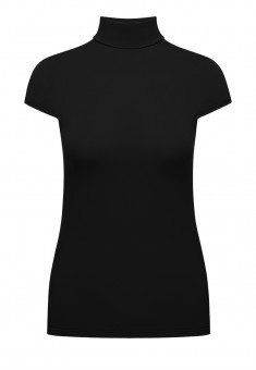 Short Sleeve Turtleneck black