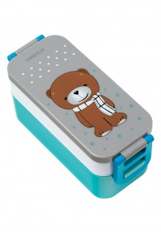 Teddy Lunchbox whiteblue