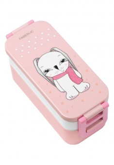 Bunny Lunchbox whitepink