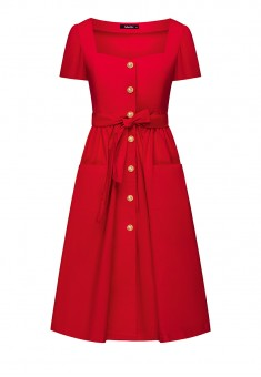 Short Sleeve Dress red