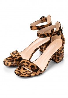 Leopard Peeptoe Shoes leopard