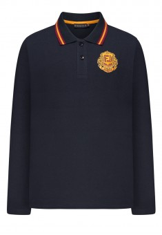 Boys Light Jersey Polo Jumper with Long Sleeves ink blue
