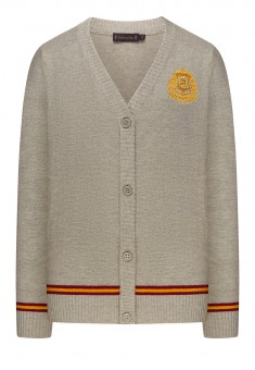 Boys Jersey Cardigan grey melange