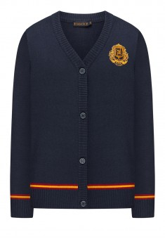 Boys Jersey Cardigan ink blue