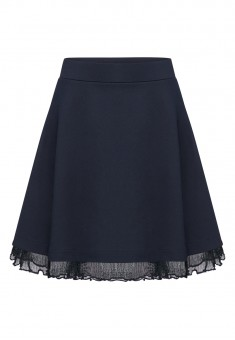 Girls Jersey Skirt ink blue