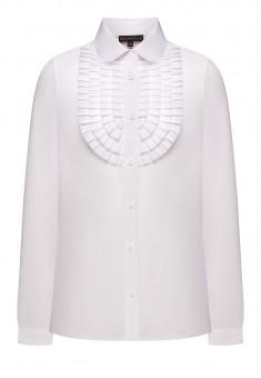 Блузка с рюшами для девочки цвет белый