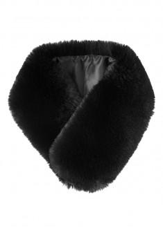 Горжетка из искуственного меха цвет чёрный