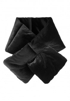 Velvet Throat Wrap black
