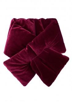 Velvet Throat Wrap burgundy
