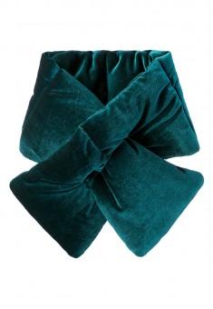 Velvet Throat Wrap emerald