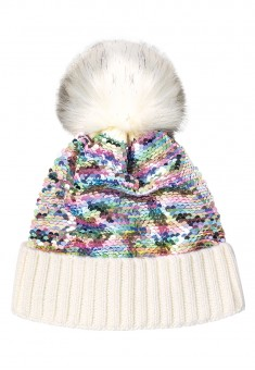 Girls Sequin Cap white