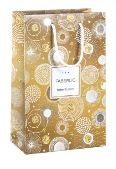 Gift bag  Fireworks  golden size М