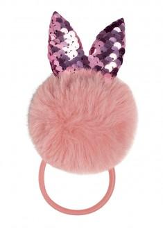 Faux Fur  Sequins Hair Band pink