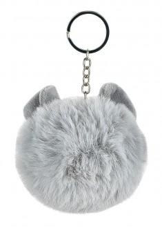 Faux Fur Key Charm grey