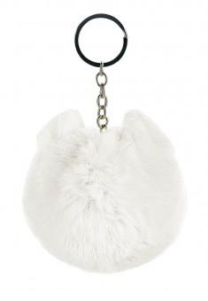 Faux Fur Key Charm white