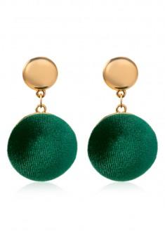 Velvet Earrings green