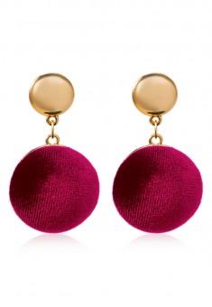 Velvet Earrings burgundy