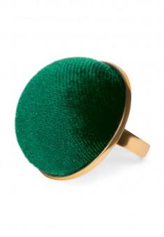 Кольцо Velvet зелёное