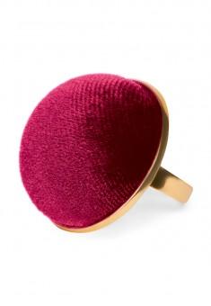Кольцо Velvet бордовое