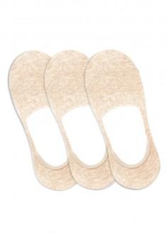 Invisible Socks beige melange
