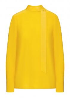 Блузка из вискозы цвет жёлтый