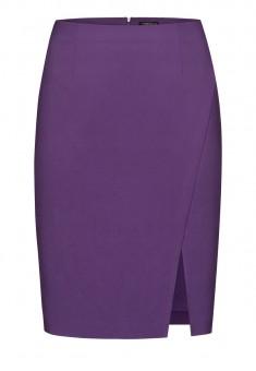 Юбка с разрезом цвет фиолетовый