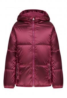 Утеплённая куртка с капюшоном для девочки цвет фуксия
