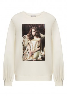 Girls Jersey Sweatshirt milk