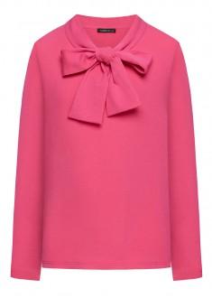 Трикотажный джемпер с длинным рукавом для девочки цвет розовый
