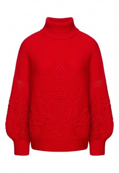 Long Sleeve Jersey Jumper red