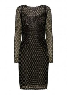 Платье с принтом цвет чёрный