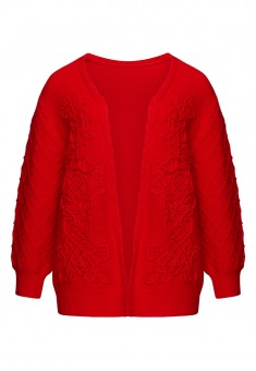 Long Sleeve Jersey Cardigan red