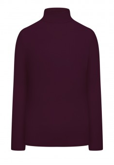 Turtleneck dark plum
