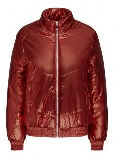 Insulated Quilt Jacket dark red