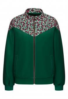 Printed Neoprene Sweatshirt dark green