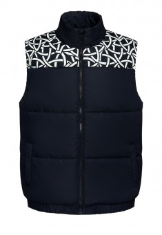 Mens Insulated Quilt Vest dark blue