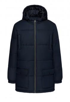 Утеплённая стёганая куртка с капюшоном для мужчины цвет тёмносиний
