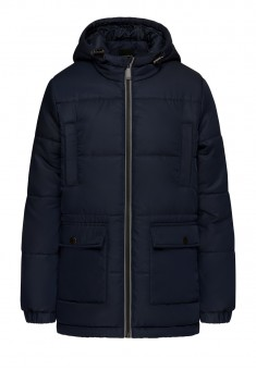 Boys Insulated Hooded Quilt Jacket dark blue