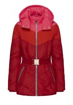 Утеплённая стёганая куртка с капюшоном для девочки мультицвет