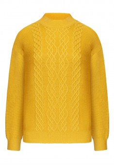 Cable Knit Jumper yellow