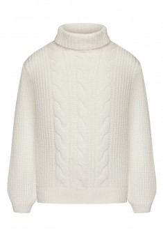 Girls Cable Knit Jumper white