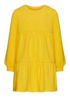 Girls French Terry Dress yellow