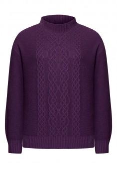 Cable Knit Jumper violet