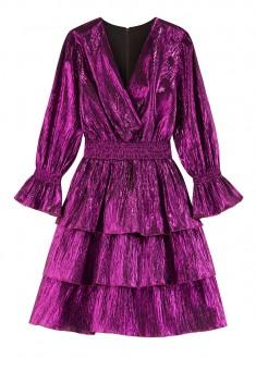 Многоярусное платье из ламе