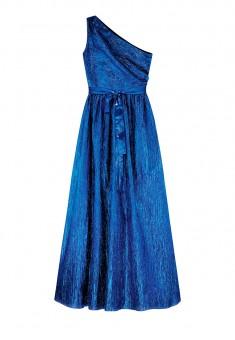 OneShoulder Lame Dress