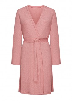 Textured Jersey Dressinggown pink melange