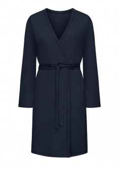 Textured Jersey Dressinggown blue