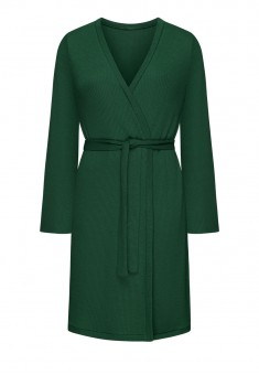 Textured Jersey Dressinggown emerald