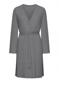 Textured Jersey Dressinggown grey melange